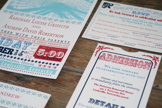 Vintage Carnival Wedding Invitation DownloadFerris Wheel
