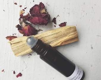 Wildwood PALO SANTO + ROSE Botanical Fragrance, Natural Perfume, Organic Fragrance, Essential Oil Perfume