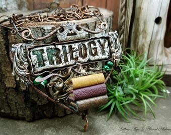 Trilogy - Mixed Media Statement Necklace
