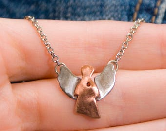 Copper angel pendant