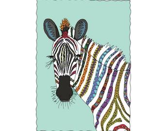 Zebra Art Print - Jennifer Reid