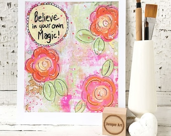 Believe In Your Own Magic Art Print - 2 sizes available