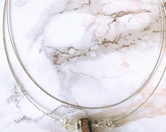 Pyrite & Honey Quartz Double Strand Necklace