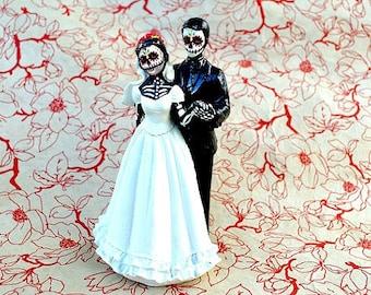 Wedding Cake Topper Day of the Dead Skeleton Couple