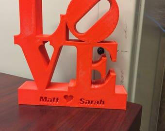 Philadelphia Love Statue with Names