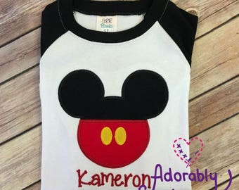 Personalized Mr Mouse with Pants Inspired Shirt perfect for those Mickey Fans