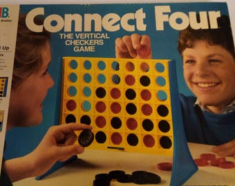 Vintage 1986 Milton Bradley Connect Four Game in Great Condition and Complete
