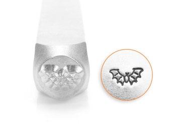Bat Design Stamp, Metal Stamp, 6mm, SC1515-I-6MM, Carbon Steel, ImpressArt Design Stamp, Bat Design Stamps