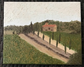 """8x10"""" Oil Tuscany Painting"""