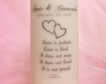Personalized Wedding Unity Candle (Pillar only)