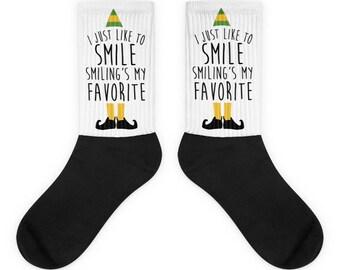 Elf - Smiling's My Favorite - Socks