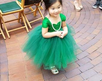 Green Dress, Flower Girl Dresses, Emerald Hunter Girls Dress, Kids Tulle Dress, Baby Wedding Dress, Toddler Tutu Dress, Girls Birthday Dress