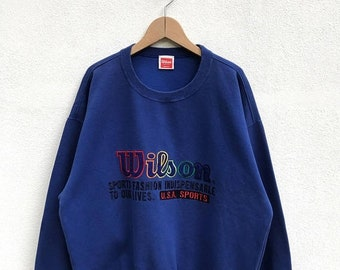20% OFF Vintage wilson Sweatshirt Big Logo/Wilson Sweater/Wilson Tennis Clothing/Wilson Embroidery Logo