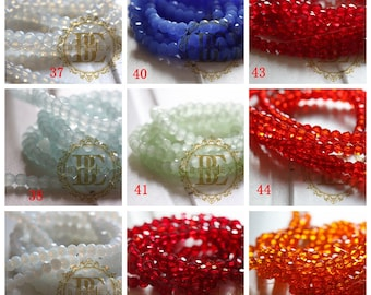 One Strand Chinese Crystal / Glass Crystal / Round / Near Round / Faceted Round 4mm (G11C)