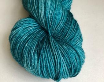 Dragon Wing colorway hand dyed sock yarn