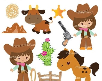ON SALE INSTANT Download. Cowgirls clip art. Ccg_6. Personal and commercial use.