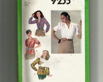 Simplicity Misses' Blouse  Pattern 9235