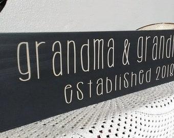 Mother's day gift For Grandma, Grandma Established Sign, Grandma gift, gift for Grandma, Pregnancy Reveal, Gift for Grandmother, Mothers day
