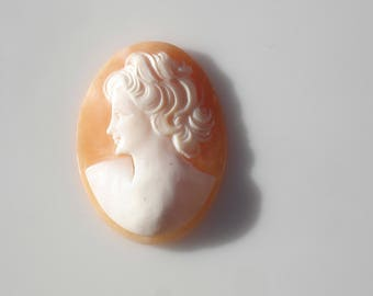 Vintage Carved Shell Cameo - Large, 1940s