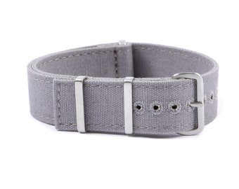 Canvas watch strap - Light Grey