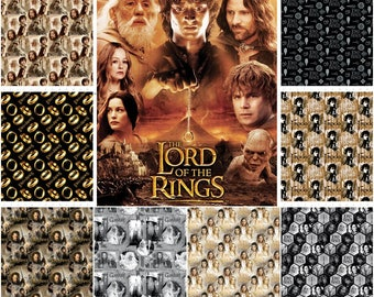 The Lord of the Rings Digitally Printed Cotton Fabric by Camelot Cotton! 9 Options [Choose Your Cut Size]