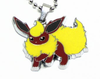 """Flareon Necklace 18"""" Stainless Steel Ball Chain"""