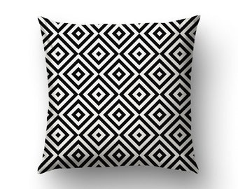 Black And White Pillow Covers, Home Gifts, Graphic Pattern, Modernist Decor, Nordic Decoration, Minimalist Decor
