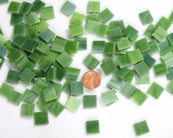 Sage Green Mosaic Tile Squares
