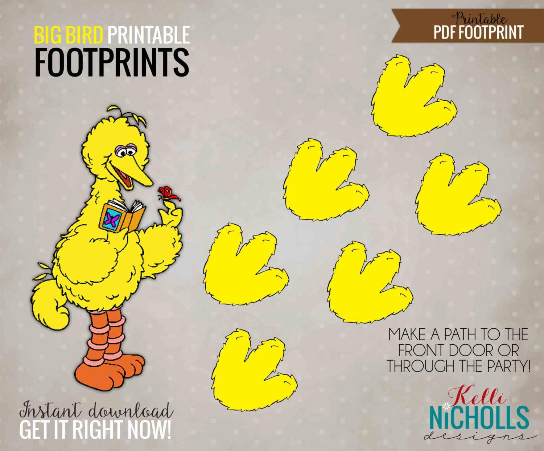 Big Bird Sesame Street Footprints Digital Children\'s