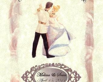 Cinderella FairyTale a Wedding Favors Programs qty 100