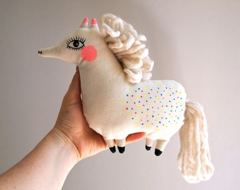 Pony cloth doll hand painted