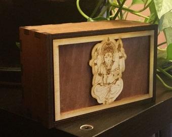 Tarot Cards Box Ganesha Stash Box Ganesha Treasure Box Ganesha Mindfulness Gift Ganesha Spiritual Gift (11020MB)