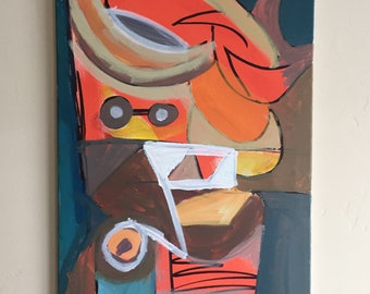 Abstract Canvas Painting: Afternoon Proceedings