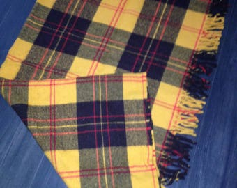 Faribo Fluff-Loomed Yellow/Gold Tartan Stadium Throw Blanket from Faribault MN
