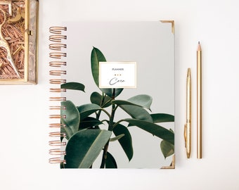 2018-2019 Planner - Weekly Planner - 2018-2019 Weekly Planner - Planner - Custom Planner - 2018 Agenda - 2018 Diary - A5 planner - Faux Gold