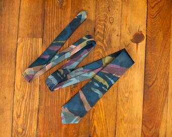 Vintage 80s 90s Men's Necktie - CITY STREETS