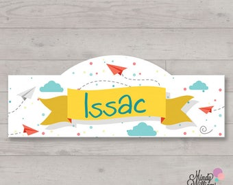Paper Airplanes - Personalised Wall Plaque