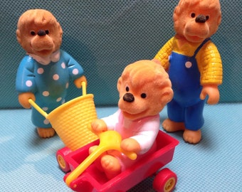 Vintage Berenstain Bears Figure Set