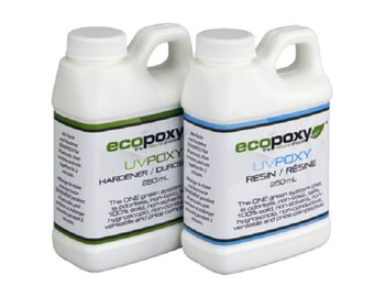 Ecopoxy UV. 500 ml You have found a safe, Environmentally Friendly, Low Odor, Plant based Epoxy. Needs no ventilation. Casting resin.