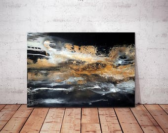 Abstract acrylic painting, modern painting, high-quality canvas art reproduction, Giclée print, avaliable in different dimensions