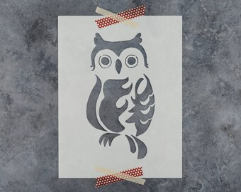 Owl Stencil - Reusable Craft Stencil of an Owl