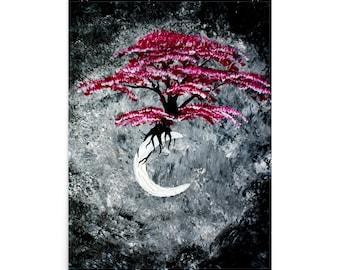Ethereal Moon Acrylic Poster Print