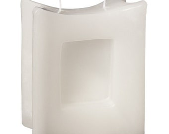 Candle blank mould Hand cast 115 x 110 mm