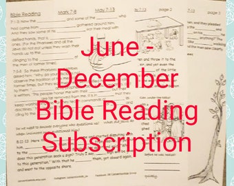 June - December Bible Reading Subscription