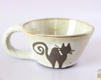Illustrated by CAT stoneware mug