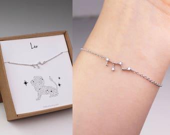 Leo bracelet, horoscope bracelet, Leo zodiac, constellation gift, bracelet, zodiac jewelry, Leo horoscope, birthday gift, horoscope jewelry