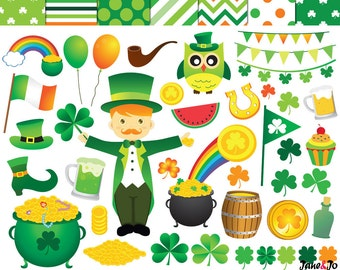 items similar to bunting clipart st paddy s day st patrick s rh etsy com images st patrick's day clipart free st patrick's day clipart
