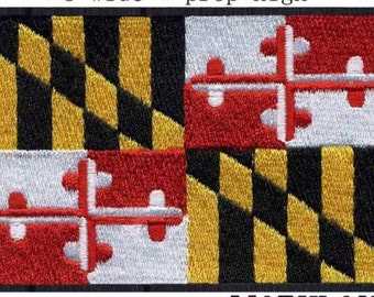 Maryland Flag Iron On Patch 3x2 inch Free Shipping