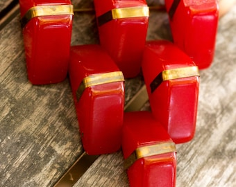 Red Triangle Bakelite Pin