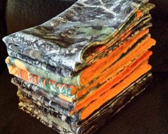 Minky Burp Cloths - Set of 8